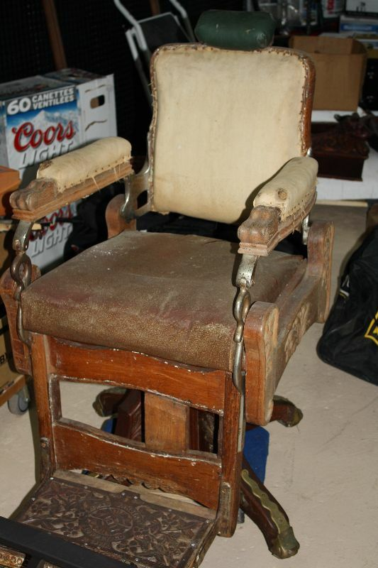 Listing item - Antique Koken Barber Chair / Wooden Barber Chair Arts