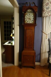 GRANDFATHER CLOCK circa 1830