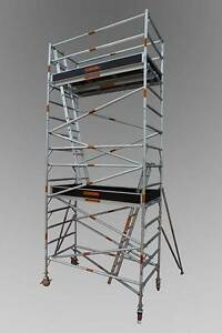 1.3 X 2.5 X 6.2 ALUMINIUM MOBILE SCAFFOLD Revesby Bankstown Area Preview