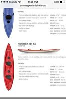 Echange kayak pelican horizon 2places vs sup board