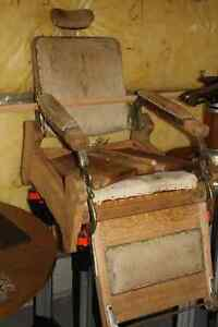 Antique Koken barber chair / wooden barber chair