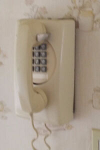 Telephone - Northern Telecom, Wall Mounted, Cream, Vintage