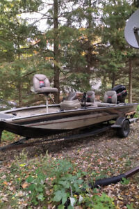 1999 Bass Tracker Pro Series 175 with Trailer