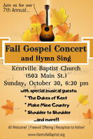 7th Annual Fall Gospel Concert and Hymn Sing