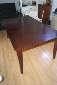 Costco mahogany red Dining table with  extension