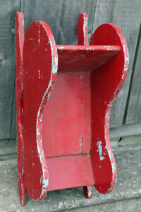 Winter Decor Sled in Red