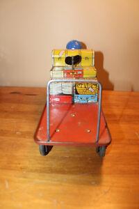 Vintage Tin Baggage Cart Toy London Ontario image 4