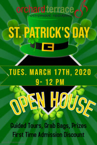 "ORCHARD TERRACE Retirement ""Luck of the Irish"" Open House"