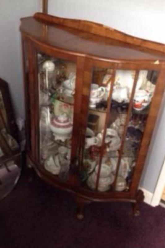 Vintage shabby chic bow fronted china cabinet in  : 86 from gumtree.com size 533 x 800 jpeg 32kB