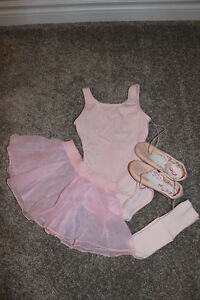 Complete Toddler Ballet Outfit & Slippers (Leather) - $25 OBO