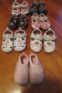 Lots of Infant Girl's shoes