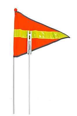 Sunlite Bicycle Bike Safety Flag Two piece fiberglass pole 72 inch-orange/yellow