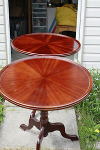 Mahogany Round End Tables
