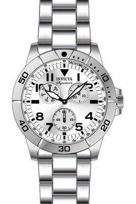 Invicta Signature Chronograph Silver Dial Stainless Steel Men's Watch 7078