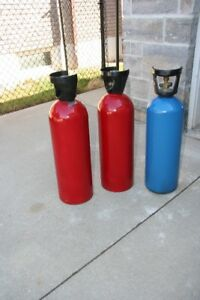 GAS ALUMINUM   CYLINDERS   - CO2 gas - for POP  /Draft Beer
