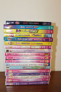 "HUGE SELECTION OF "" BARBIE "" DVD'S (  contact me fr. prices )"