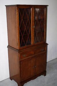Vintage Duncan Phyfe Mahogany China Cabinet