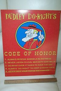 Dudley Do-Rights   Andy of Mayberry   Tin Plate Signs Oakville / Halton Region Toronto (GTA) image 2