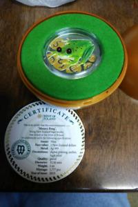 1 oz Fine Silver Coloured Coin – Money Frog