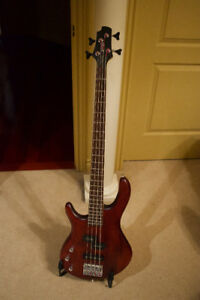 Cort Left-Handed 4-String Action Bass (Black Cherry)