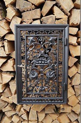 Antike Kachelofenvortür Ofentür Lüftungstür Kachelofentür Gusseisen Gründerzeit