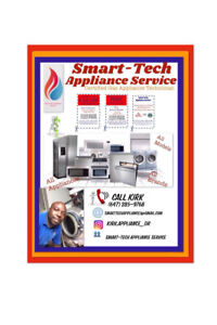 SMART-TECH APPLIANCE SERVICE REPAIR AND INSTALL SAME DAY