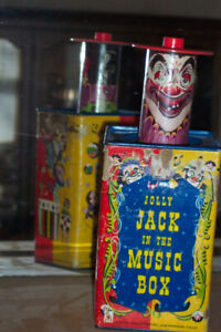 ZOMBIE Toy - Jack in the Music Box- Antique - RARE