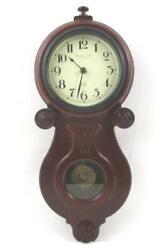 Sterling Noble Battery Operated Pendulum Wall Clock Brown Wood Frame 21 Inch