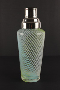 Hand Blown Cobler Style Cocktail Shaker