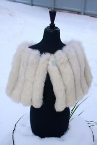 Silver Fox Stole:  Up-cycled / Redesigned Vintage Fur Fashion