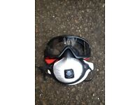 Asbestos and dust mask