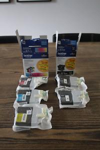 Encre Imprimante Brother LC61BK (noir) et LC61CL (couleur)
