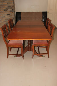 Antique table with four chairs - $400