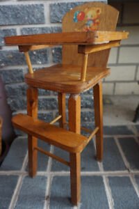 Antique doll high chair