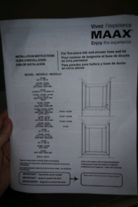 MAAX wall surround - Brand New!