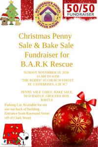 BARK ANIMAL RESCUE PENNY SALE SUNDAY 11-4 THE ROBBY 85 CURCH ST