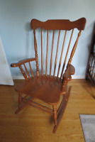 2 different Solid maple Roxton rocking chairs - made in Canada!