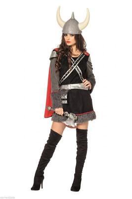 Wikinger Kostüm Kleid Hunnen Barbaren Mittelalter Damen Mongolen Wikingerkostüm ()