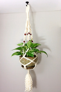 Macrame Plant Hanger, Macrame Hanging Planter with a Hook