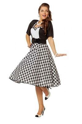 50er Jahre Kleid Kostüm Rock n Roll Petticoat Woogie Disco Rockabilly Polka Tanz