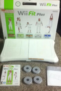 new wii balance board with wii fit and wii fit plus