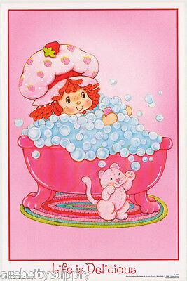 Poster: Strawberry Shortcake - Flocked - Life Is ... - Free Ship Fl3321f Rp77 I