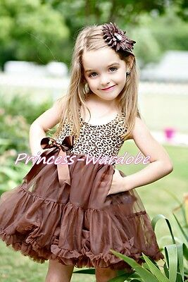 Brown Leopard Print with Brown ONE-PIECE Petti Dress Pettisk