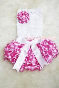 Newborn Baby Optional Crochet Tube Top wif Piettskirt Skirt Dance TUTU Set NB-3Y