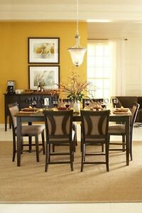 7 PC Urban Loft Formal Contemporary Dining Room Table Furniture Set EBay