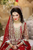 indian pakistani bridal/engagment/party makeup/hairstyle/heena