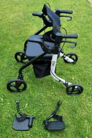 Duo 2 in 1 rollator / lightweight folding walker wheelchair walking ai