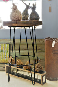 RUSTIC TALL BISTRO TABLE, HAND CRAFTED
