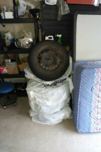 4x 195 / 60 R15 Yokohama Avid Tires on Steel Rims, $200