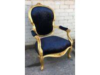 Beautiful ornate throne chair